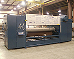 "110"" wide hot melt roller coater."