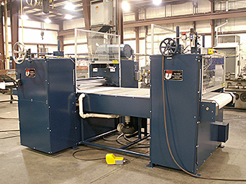 The Union Tool Corporation designed and constructed a system that utilizes a Union Hot Melt Roller Coater and a Union Dual Pinch Rotary Laminator (Pinch Roll).